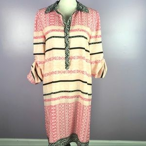 Antonio Melani Size 10 Tunic Pink  Popover Dress